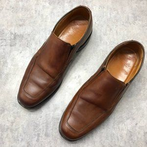Allen Edmonds Brown Leather Slip On Loafers 10